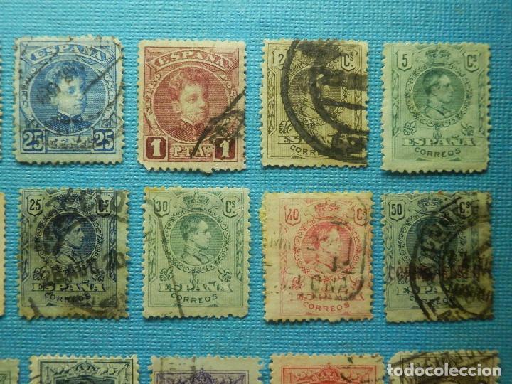 Sellos: SELLO - ESPAÑA - CORREOS - LOTE DE 32 SELLOS - ISABEL II Y ALFONSO XIII - TODOS DIFERENTES - - Foto 3 - 87071780