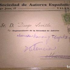 Timbres: SOCIEDAD DE AUTORES ESPAÑOLES. VALENCIA. Lote 87373280