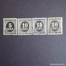 Sellos: EDIFIL 236/39 NUEVOS SIN FIJASELLOS LUJO CIFRAS SERIE COMPLETA 1898. Lote 93251775