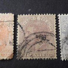 Sellos: ESPAÑA,1882,ALFONSO XII,EDIFIL 210-212,SERIE COMPLETA,USADOS,( LOTE AR). Lote 94738331