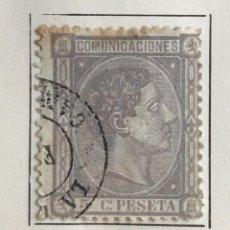 Sellos: SELLO DE ESPAÑA REINADO DE ALFONSO XII AÑO 1875-USADO-EDIFIL 163, 5 C.LILA.DENTADO. Lote 98857887
