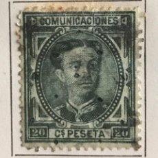 Sellos: SELLO DE ESPAÑA REINADO DE ALFONSO XII AÑO 1875-USADO-EDIFIL 176, 20 C.VERDE BRONCE.DENTADO. . Lote 98860139
