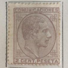 Sellos: SELLO DE ESPAÑA REINADO DE ALFONSO XII AÑO 1878-NUEVO SEÑAL FIJASELLOS-EDIFIL 190, 2 C.MALVA.DENTADO. Lote 99218447