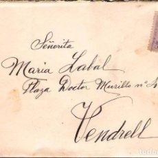 Sellos: CARTA DE 1915 DE BARCELONA A VENDRELL FRANQUEO ALFONSO XIII MEDALLON. Lote 102101839