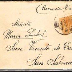 Sellos: CARTA DE 1917 DE BARCELONA A SAN VICENTE DE CALDERS - SAN SALVADOR CARTAS DE AMOR. Lote 102102567