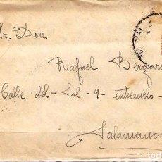 Sellos: CARTA DE 1927 DE BILBAO A SALAMANCA FRANQUEO ALFONSO XIII. Lote 102102767