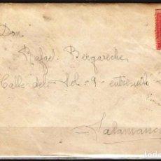 Sellos: CARTA DE 1927 DE BILBAO A SALAMANCA FRANQUEO ALFONSO XIII. Lote 102102871