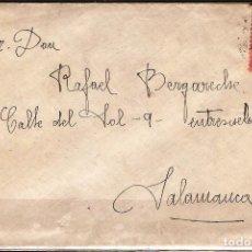 Sellos: CARTA DE 1927 DE BILBAO A SALAMANCA FRANQUEO ALFONSO XIII. Lote 102102943