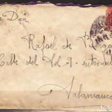 Sellos: CARTA DE 1927 DE BILBAO A SALAMANCA FRANQUEO ALFONSO XIII. Lote 102102999