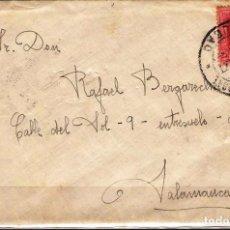 Sellos: CARTA DE 1927 DE BILBAO A SALAMANCA FRANQUEO ALFONSO XIII. Lote 102103063