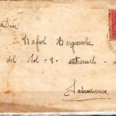 Sellos: CARTA DE 1927 DE BILBAO A SALAMANCA FRANQUEO ALFONSO XIII. Lote 102103131