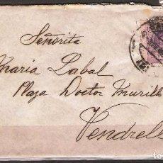 Sellos: CARTA DE BARCELONA A VENDRELL FRANQUEO 15C ALFONSO XIII. Lote 102103235