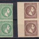 Sellos: 1875 EDIFIL 160/61** NUEVOS SIN CHARNELA. BLOQUE DE CUATRO.. LUJO. CARLOS VII. Lote 103161039