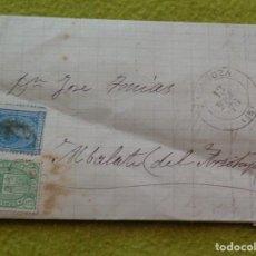 Sellos: CARTA ENTERA DE ZARAGOZA A ALBALATE DEL ARZOBISPO ( TERUEL ) -- IMPUESTO DE GUERRA --- 1876. Lote 103238447
