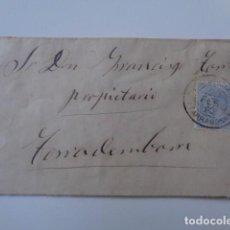 Sellos: TORREDEMBARRA A TORREDEMBARRA. TARRAGONA. CARTA 1880. BONITA.. Lote 103369235