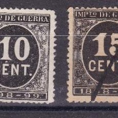 Sellos: CL5-15- CLÁSICOS CIFRAS IMPUESTO GUERRA 1898. EDIFIL 236/39. PERFECTOS. Lote 103917075