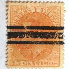 Sellos: SELLOS ESPAÑA 1882. CORREOS Y TELEGRAFOS. 15 CENTIMOS. USADO.. Lote 105813219