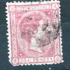 Sellos: EDIFIL 166. 25 CENT ALFONSO XII, AÑO 1875, USADO.. Lote 105994907