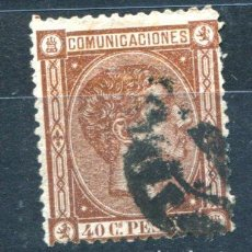 Sellos: EDIFIL 167. 40 CENT ALFONSO XII, AÑO 1875, USADO. . Lote 105995095