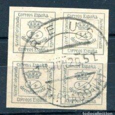 Sellos: EDIFIL 173. 4/4 ESCUDO MATASELLO DE REUS, TARRAGONA. . Lote 105995243