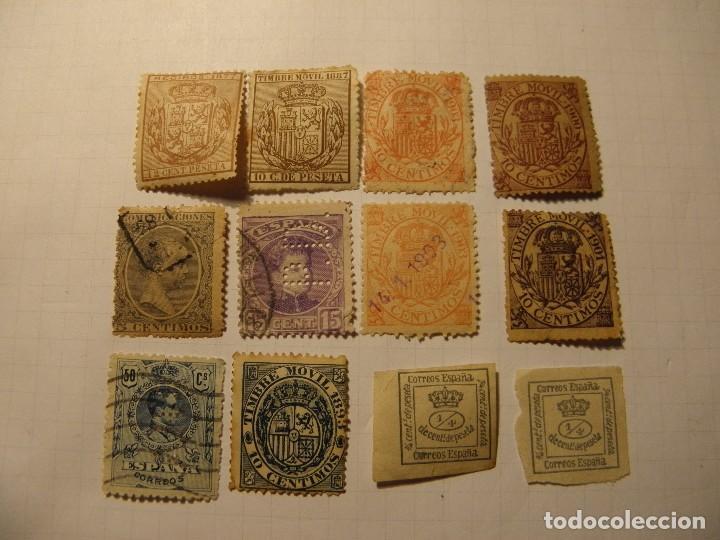 LOTE 12 SELLOS ALFONSO XIII (Sellos - España - Alfonso XII de 1.875 a 1.885 - Nuevos)