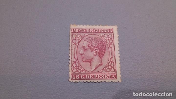 1877 - ALFONSO XII - EDIFIL 188 - MNH** - NUEVO CON GOMA - IMPUESTO DE GUERRA - COLOR VIVO INTENSO (Sellos - España - Alfonso XII de 1.875 a 1.885 - Nuevos)