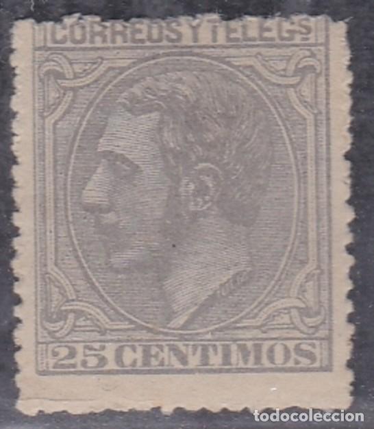 Nº 204 ALFONSO XII VEINTICINCO CENTIMOS NUEVO CON CHARNELA. (Sellos - España - Alfonso XII de 1.875 a 1.885 - Nuevos)