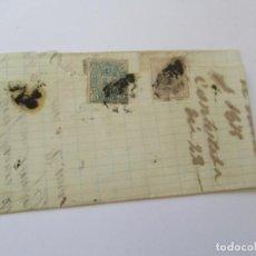 Sellos: ANTIGUA CARTA MANUSCRITA CON SELLOS- ESTÁ CERRADA-1875. Lote 111878255