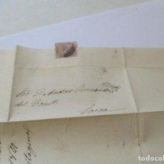 Sellos: ANTIGUA CARTA MANUSCRITA CON SELLO- 1869. Lote 111878715