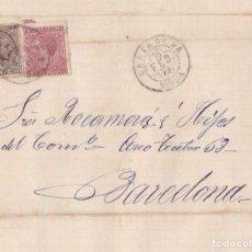 Sellos: CARTAGENA 1879 TRÉBOL FECHADOR RARO EN ESTA ESTAMPACIÓN - CARTA IMPUESTO DE GUERRA - LUJO. Lote 113591527