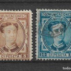 Sellos: ESPAÑA 1876 EDIFIL 174/175 USADO - 20/4. Lote 118059999