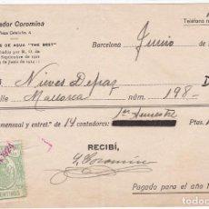 Sellos: AP27-FISCALES FACTURA CON TIMBRE PARA FACTURAS 1924. BARCELONA . Lote 118216671