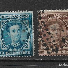 Sellos: ESPAÑA 1876 EDIFIL 175 Y 177 - 20/6. Lote 118298903