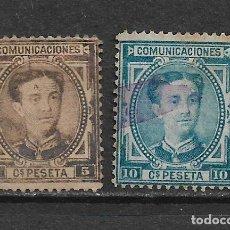 Sellos: ESPAÑA 1876 EDIFIL 174/175 - 20/6. Lote 118299139