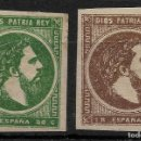 Sellos: AÑO 1875.EDIFIL 160/61. CARLOS VII. VASCONGADAS.NUEVOS VC 32 EUROS. Lote 120462351