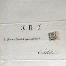 Sellos: OFICIO REMITIDO DE BADAJOZ A CÁDIZ CON EDIFIL173. NO LLEVA MATASELLOS DE SALIDA NI DE LLEGADA. 1885. Lote 120688627