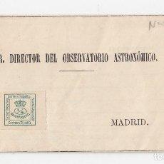 Sellos: RARA CIRCULAR DE PAMPLONA. NAVARRA AL OBSERVATORIO ASTRONÓMICO NARRANDO UNA TEMPESTAD. 1885. Lote 120829683