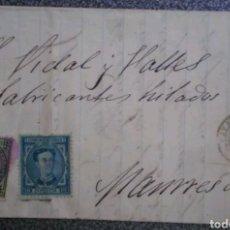 Sellos: CARTA EDIFIL 175 Y 183 DE IGUALADA A MANRESA 1876. Lote 121942055