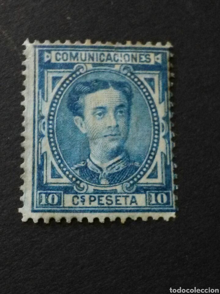 1876.1 DE JUNIO. ALFONSO XII. 10 CTS. NUEVO CON CHARNELA. (Sellos - España - Alfonso XII de 1.875 a 1.885 - Nuevos)