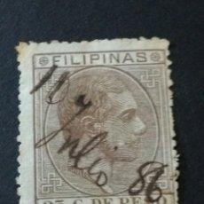 Sellos: ALFONSO XII. 25 CENTAVOS DE PESO. FILIPINAS.. Lote 123039167