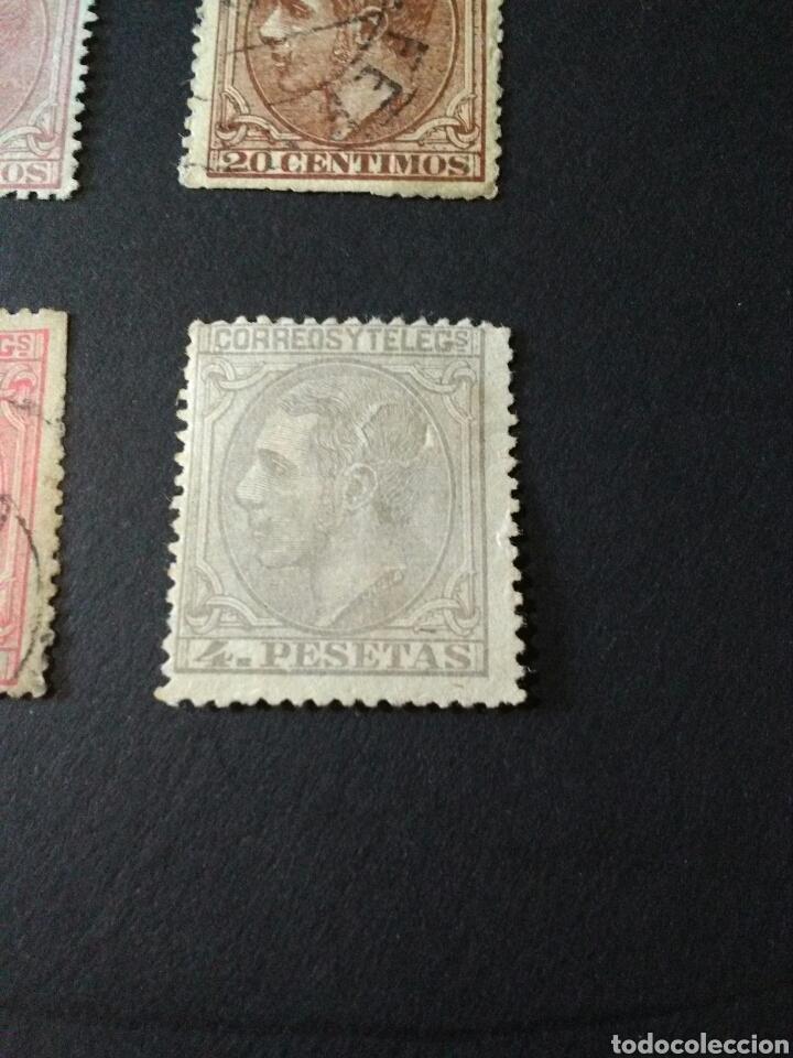 Sellos: 1879. 1 DE MAY. ALFONSO XII. SERIE CORTA. 2, 5, 10, 20, 25, 50 CTS Y 1 Y 4 PTAS. LAS 4 PTS. TELEGRAF - Foto 2 - 123040215
