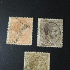 Sellos: 1878. 1 DE JUL. ALFONSO XII. LOTE DE TRES SELLOS. 5, 10 Y 25 CTS.. Lote 123041007