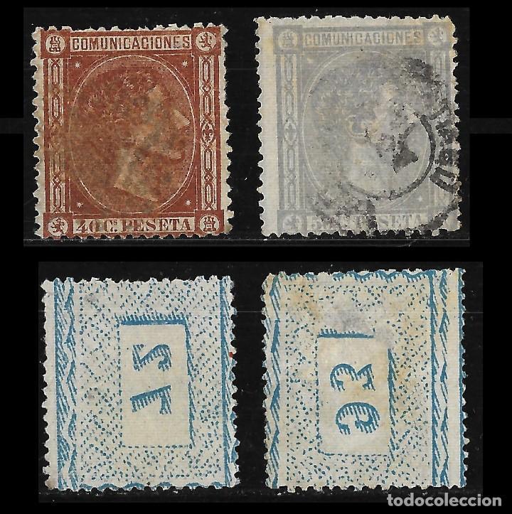 Sellos: 1875 Alfonso XII.Lote.Matasello Edifil.162 -170 - Foto 3 - 126674783