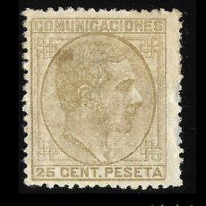 Sellos: 1878 ALFONSO XII. 25 C SEPIA OLIVA . NUEVO, EDIF. Nº 194. Lote 127344915