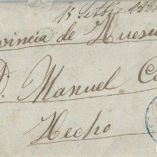 Sellos: SOBRE DE 1885 A HECHO CON MATASELLOS TRÉBOL DE PIEDRAHITA EN AZUL.. Lote 131573798