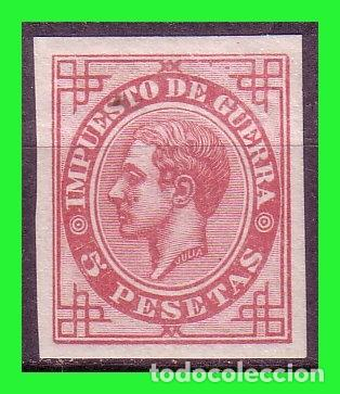 1876 ALFONSO XII, EDIFIL Nº 187S * LUJO, IMPUESTO DE GUERRA (Sellos - España - Alfonso XII de 1.875 a 1.885 - Nuevos)