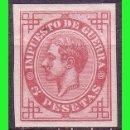 Sellos: 1876 ALFONSO XII, EDIFIL Nº 187S * LUJO, IMPUESTO DE GUERRA. Lote 131945494
