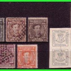 Sellos: 1876 ALFONSO XII, EDIFIL Nº173 A 182 (O) COMPLETA. Lote 132080682