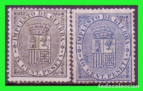 1874 ESCUDO DE ESPAÑA, EDIFIL Nº 141 Y 142 (*) (Sellos - España - Alfonso XII de 1.875 a 1.885 - Nuevos)