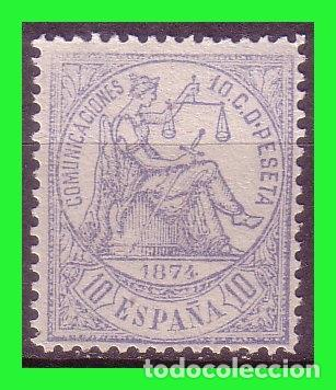 1874 ALEGORIA DE LA JUSTICIA, EDIFIL Nº 145 (*) (Sellos - España - Alfonso XII de 1.875 a 1.885 - Nuevos)